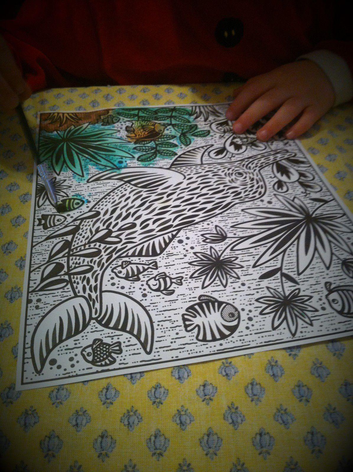 Livre activité pour les vacances :  La peinture magique thème la jungle de chez Usborne