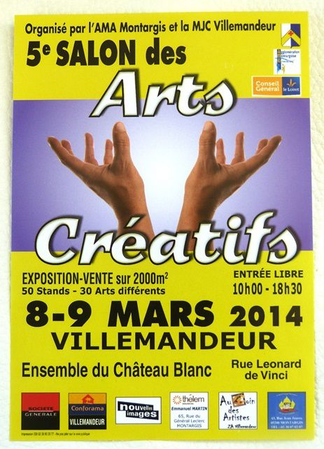 5ème salon des Arts Créatifs de Villemandeur.