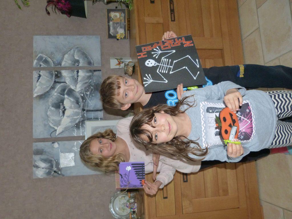 Préparatifs d'Halloween avec mes petits enfants