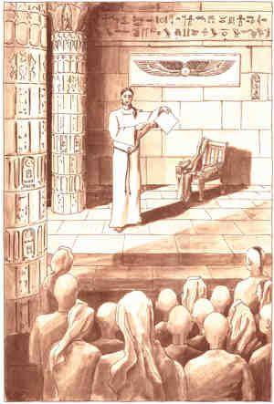 Dessin et Texte tiré du livre :'La lumière sur le Royaume'