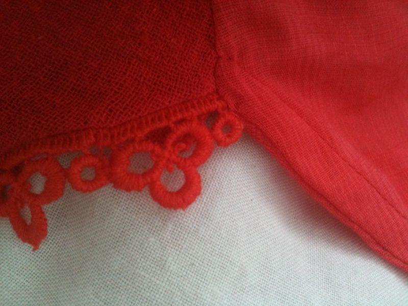 Récupération d'une robe rouge