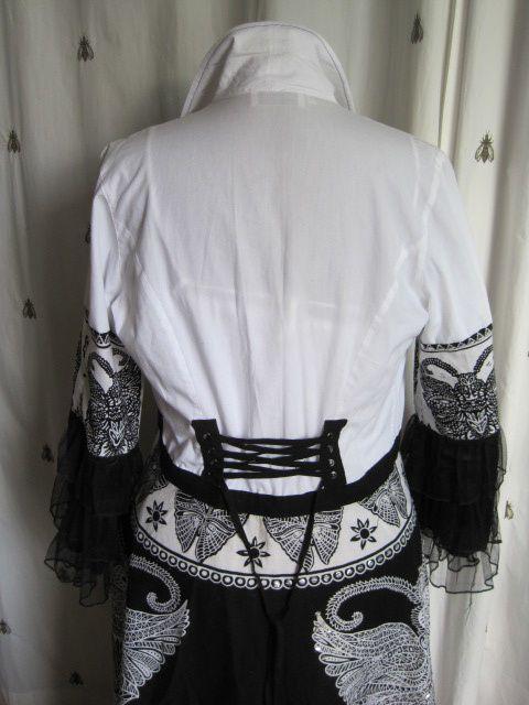 Cache poussière romantique noir et blanc