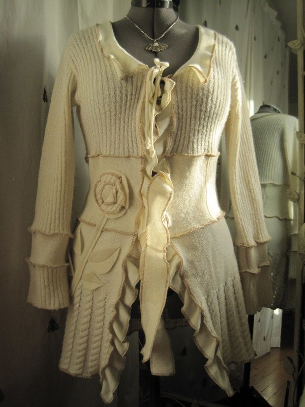 Une veste en laine écrue pour ma Zaza