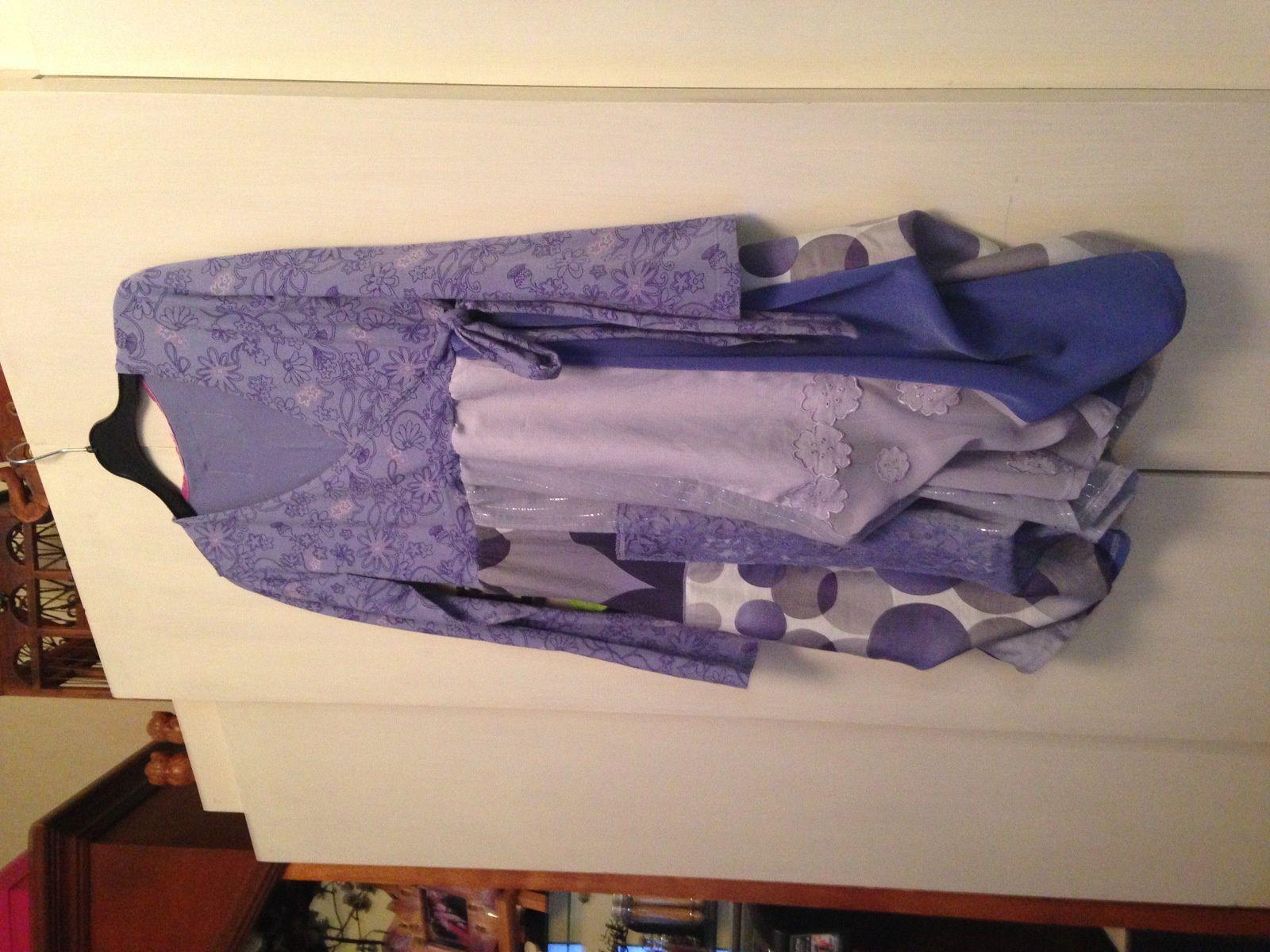 Une robe couleur lavande