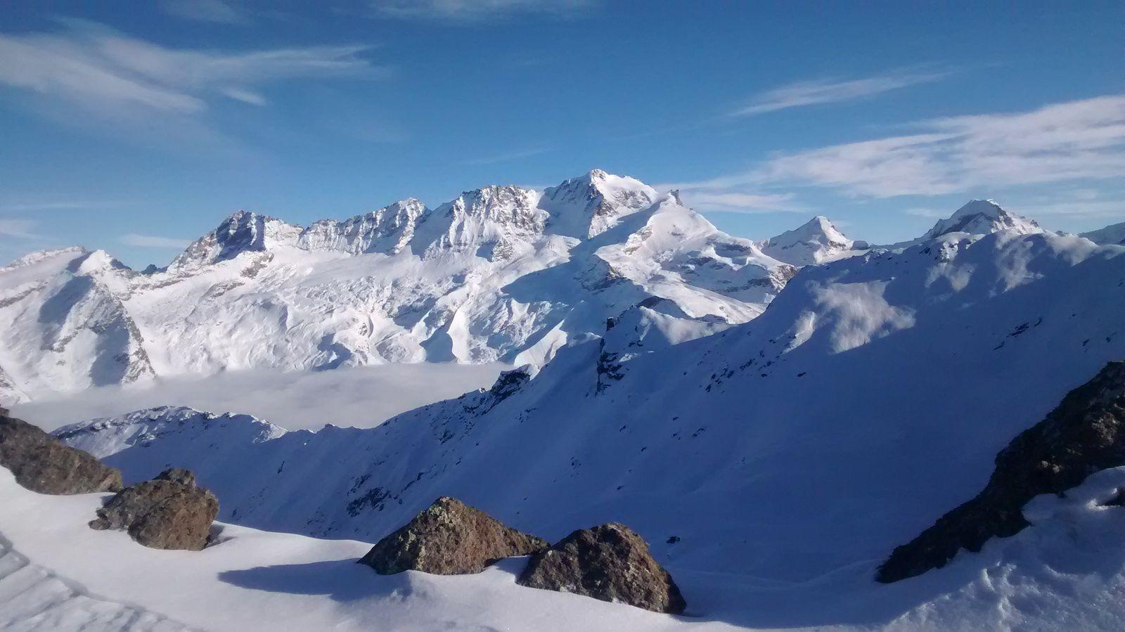 ski de rando à Rhemes notre dame Cime de Gollein + Entrelor partiel