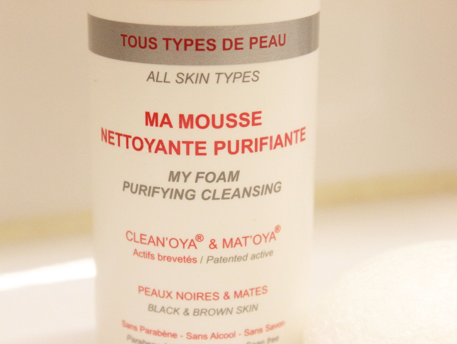 Ma mousse nettoyante purifiante In'Oya