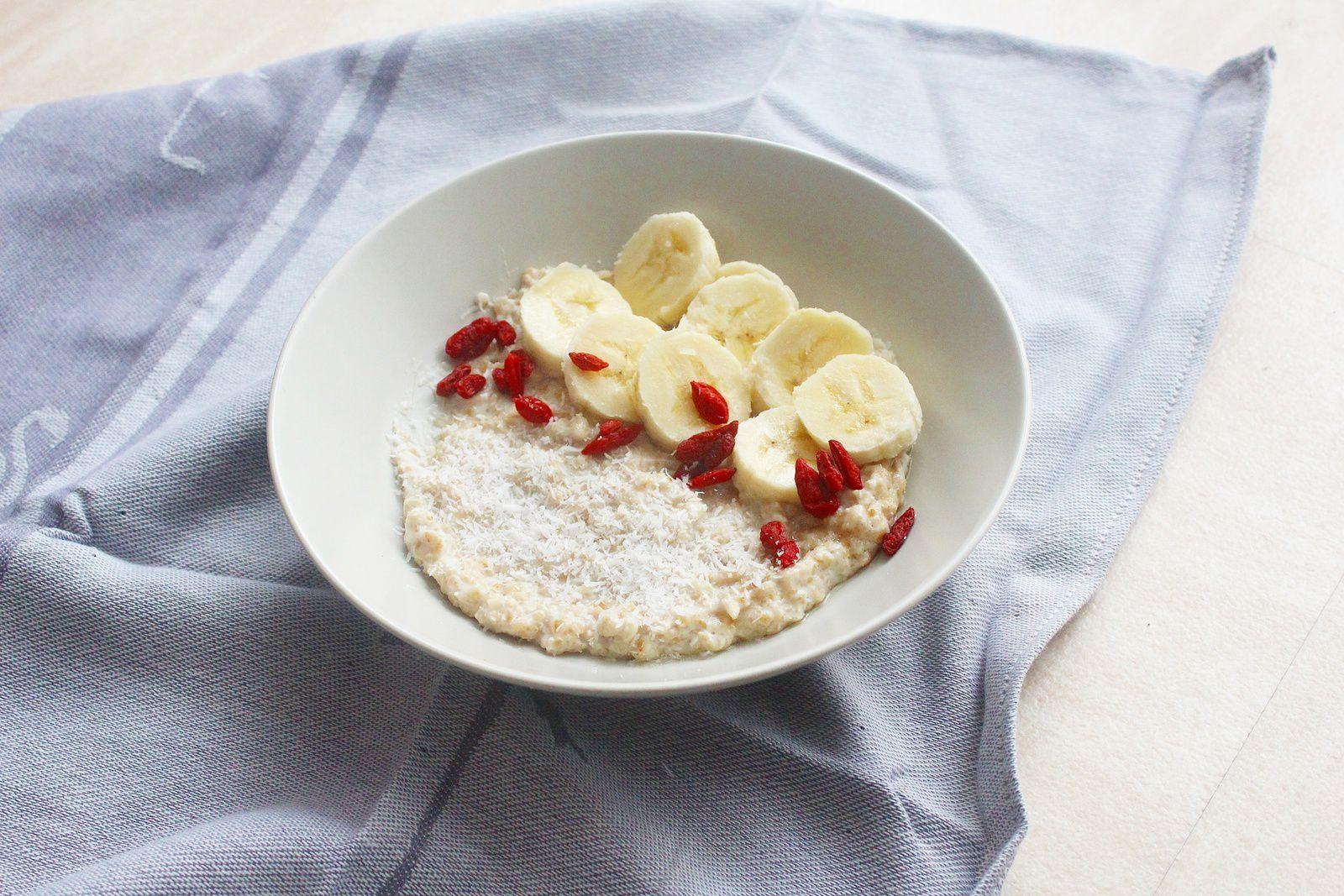 recette porridge banane coco baies de Goji