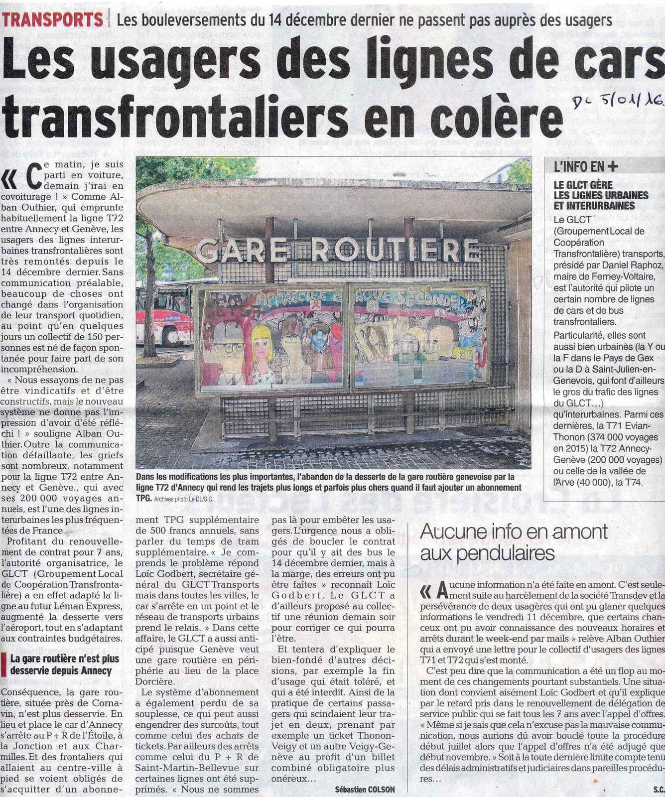 Transports collectifs transfrontaliers (TCT) les usagers en colère