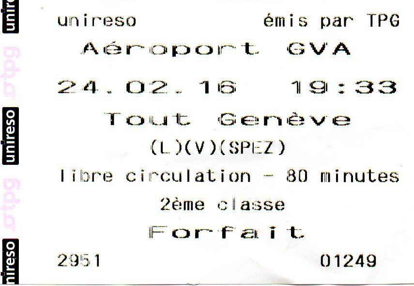 Surtaxe 3.50 € sur le billet à destination de l'aéroport de Genève