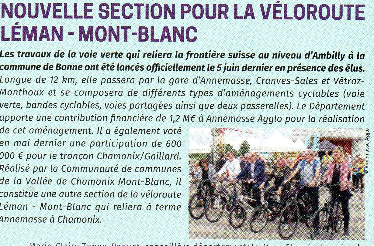 la voie cyclable chamonix annemasse avenir transports hte savoie. Black Bedroom Furniture Sets. Home Design Ideas