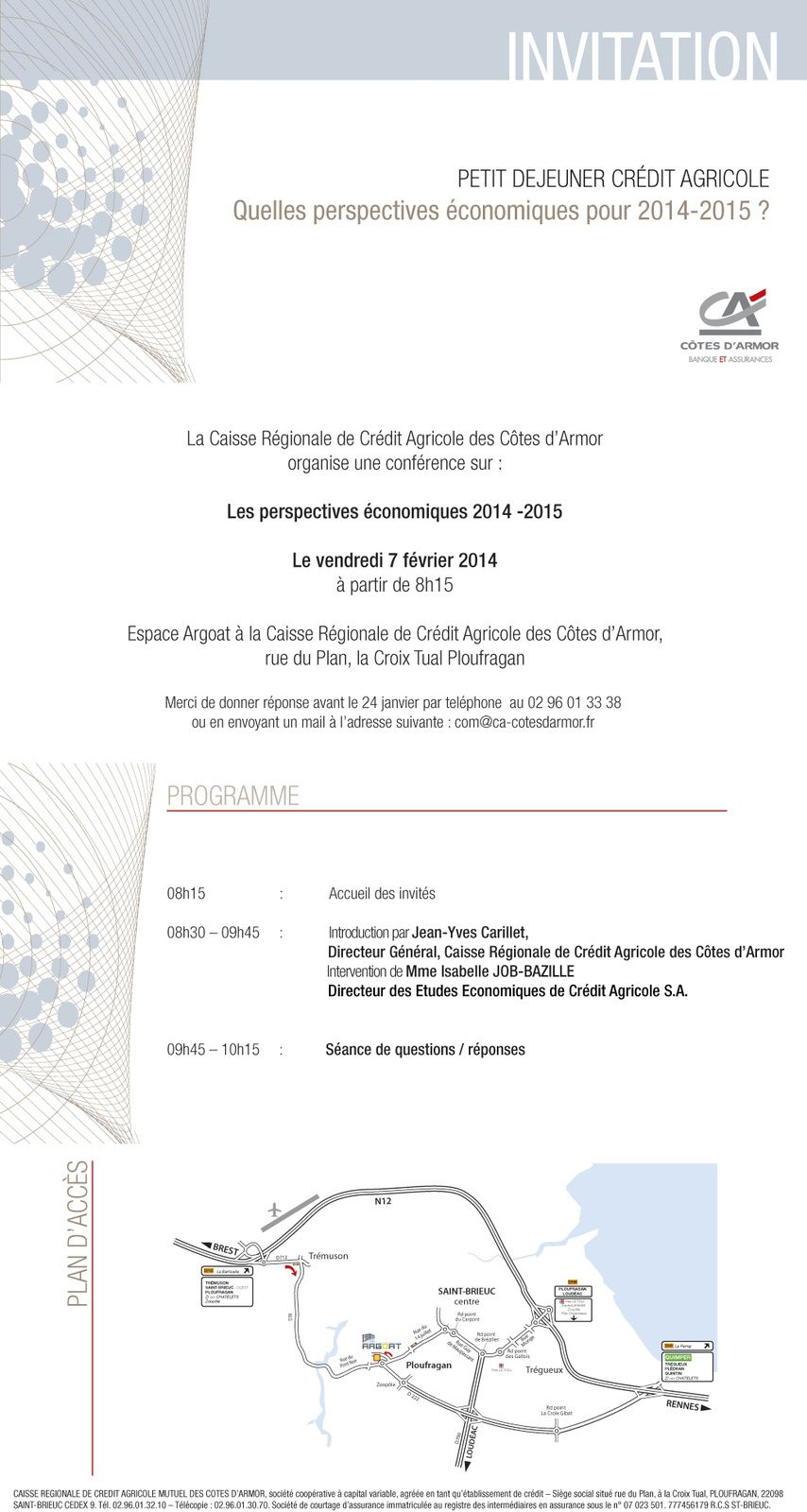 Invitation Credit agricole