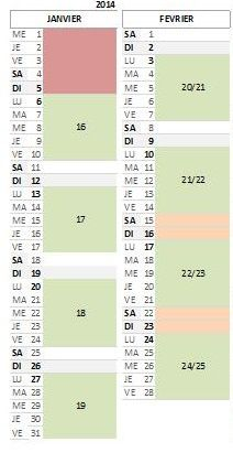 Calendrier AFE