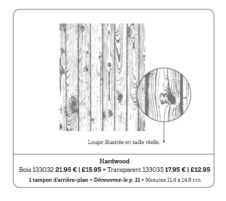 Tampon d'arrière plan Hardwood, p.37 du catalogue printemps-été Stampin'Up! 2014