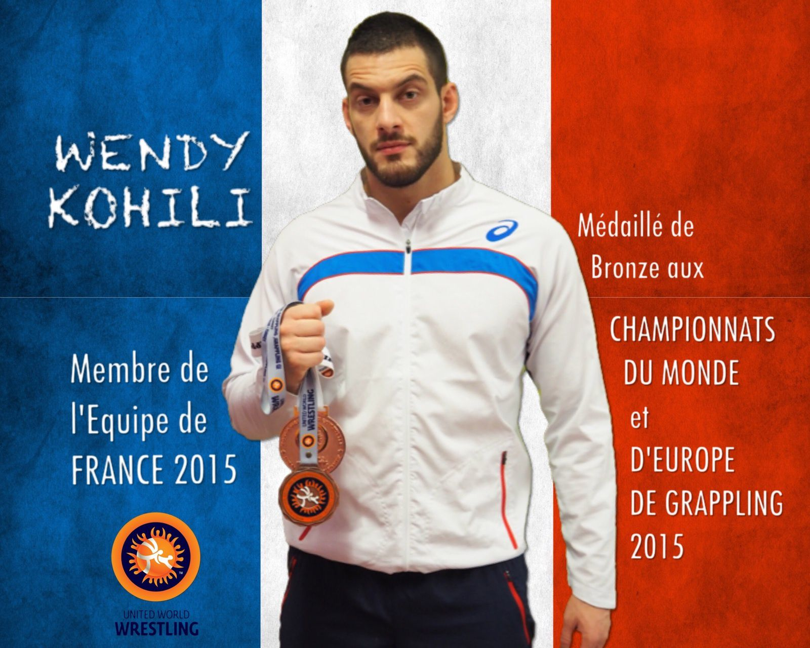 Wendy Kohili      Equipe de France de Grappling 2015