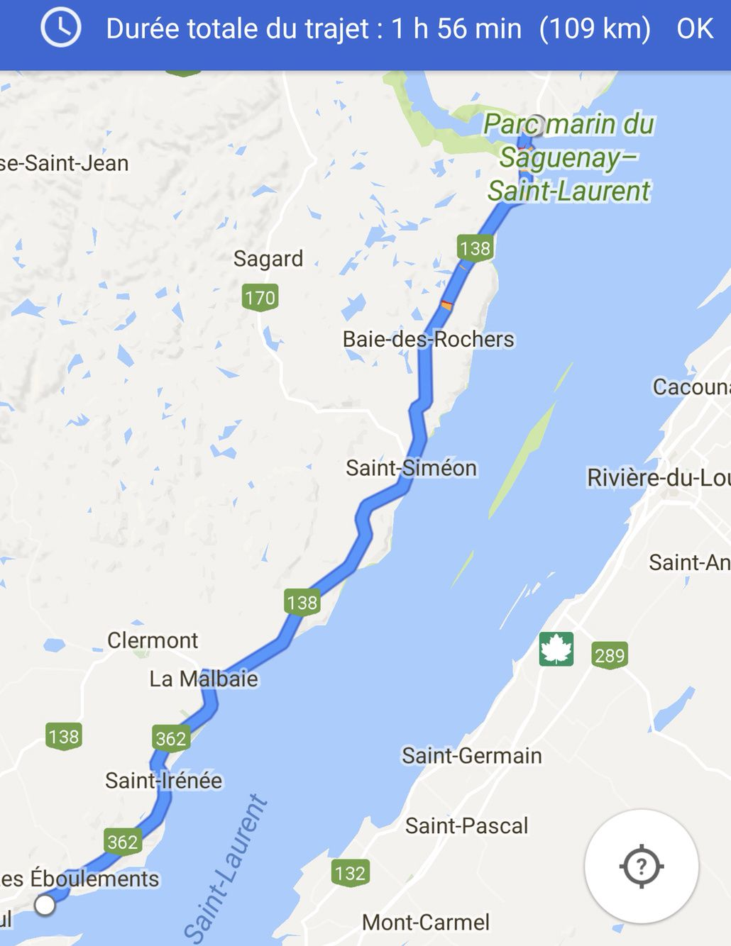 Canada : Jour J+9 - Tadoussac - Saint Joseph de la Rive