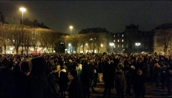 Rassemblement de soutien à Charlie Hebdo