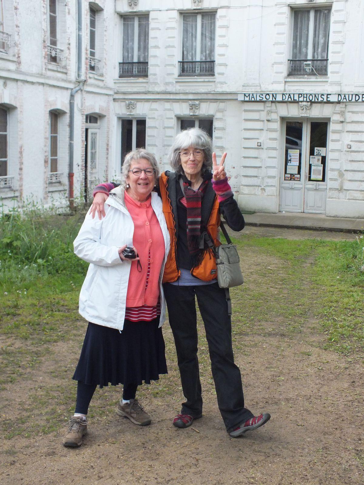 Danièle et Hélène: deux plastisiennes québécoises se sont arrêtées dans la maison avant de prendre la route de la Bretagne