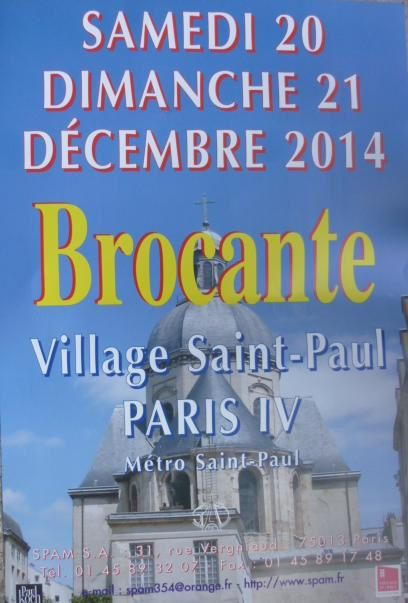Brocante de no l au village saint paul paris iv le week end du 20 21 d cembre 2014 le blog - Brocante a paris ce week end ...