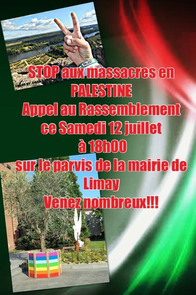 Demain à Limay (78) solidarité avec la Palestine contre l'impérialisme israélien