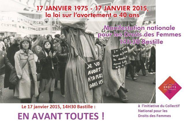 17 janvier 2015: manifestation nationale pour le droit des femmes