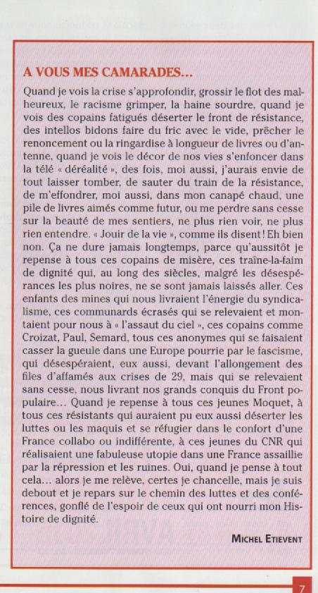 A vous mes camarades par Michel Etiévent