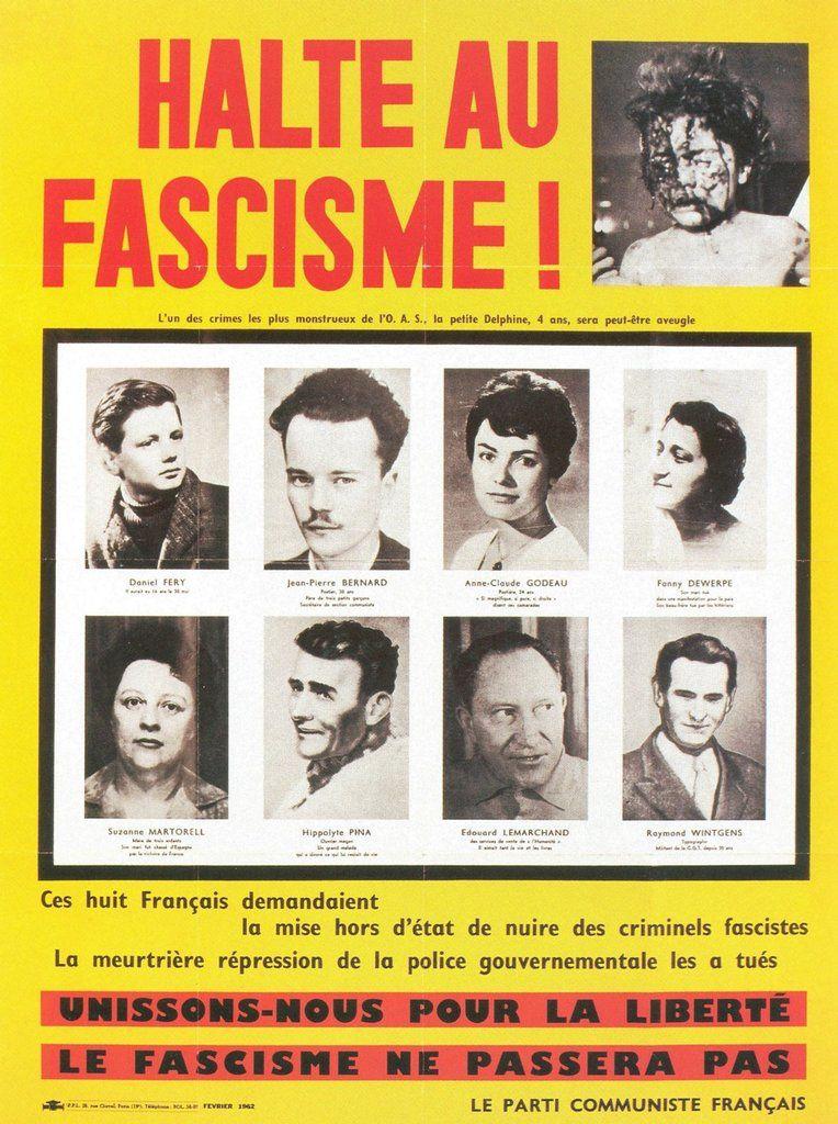 8 février 1962, métro Charonne à Paris: souvenez-vous
