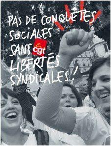 23 septembre 2015: action nationale CGT pour les libertés syndicales