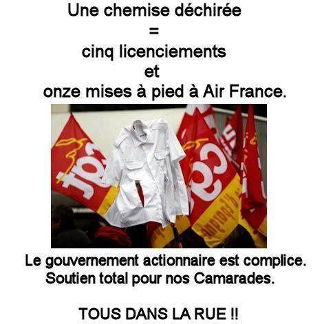 Air France: riposte contre l'état et les patrons voyous