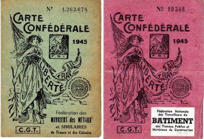 cartes syndicales d'adhérents du Mantois