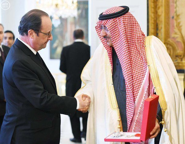 Le prince héritier saoudien à François Hollande: &quot&#x3B;Merci bien, c'est un grand honneur&quot&#x3B;