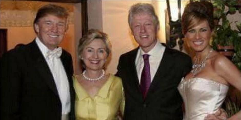 La pensée unique: Les Trump et les Clinton se détestent depuis toujours