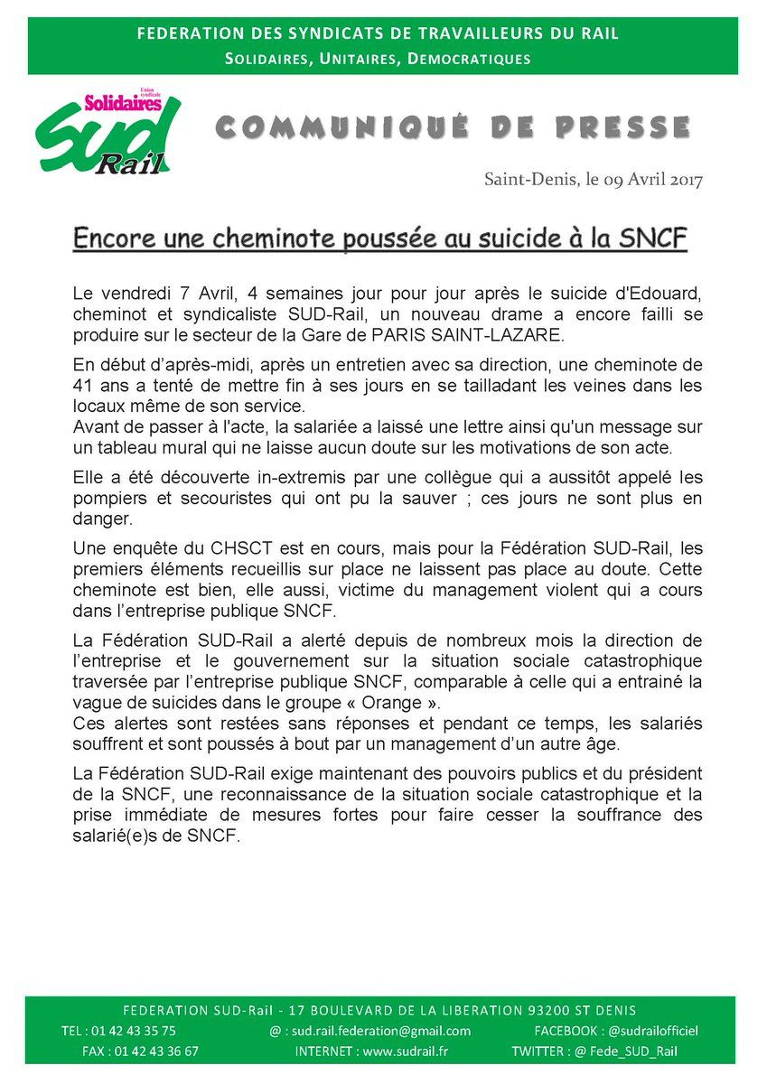 Vers un syndrome SNCF?