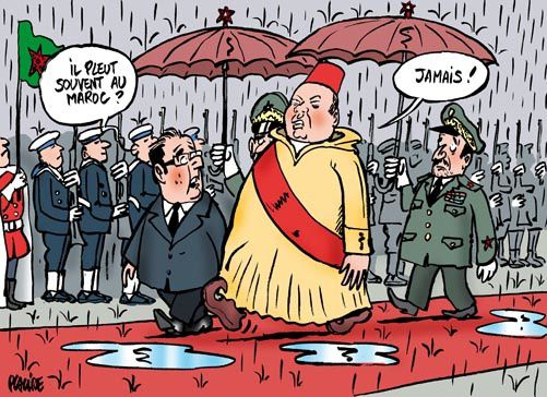 Emmanuel Macron chez son ami le roi du Maroc