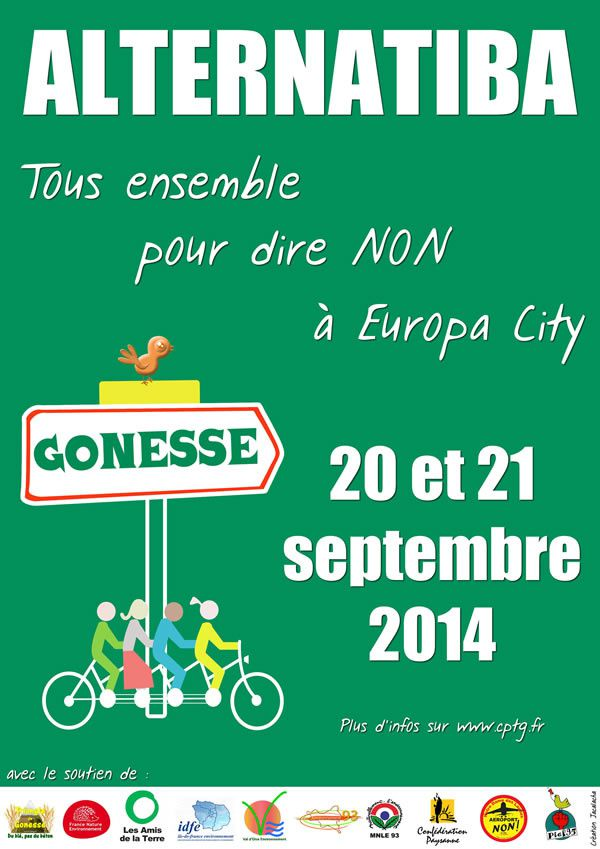 Alternatives en actions : Alternatiba à Gonesse les 20 et 21 septembre