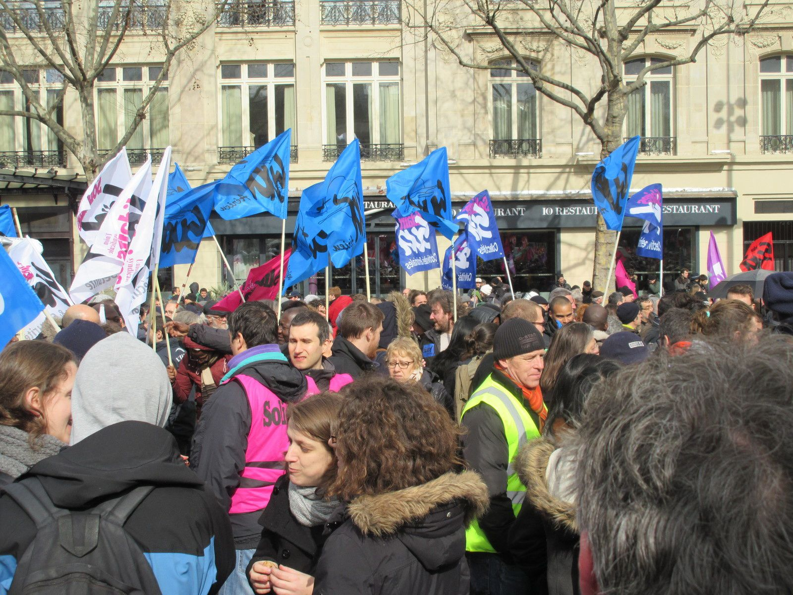 Quelques photos des manifs du 9 mars à Paris
