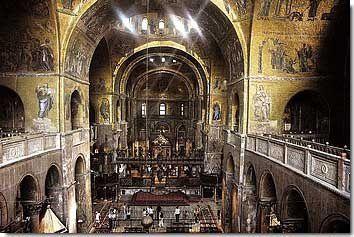 Intérieur de la basilique St Marc