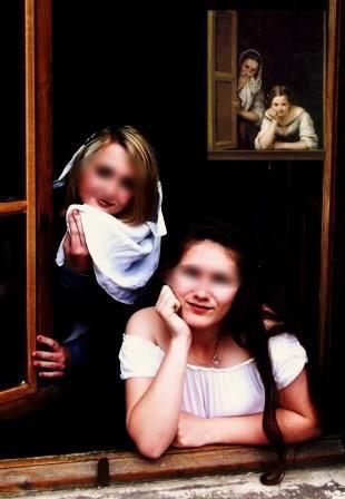 Marie-Clotilde et Clarisse