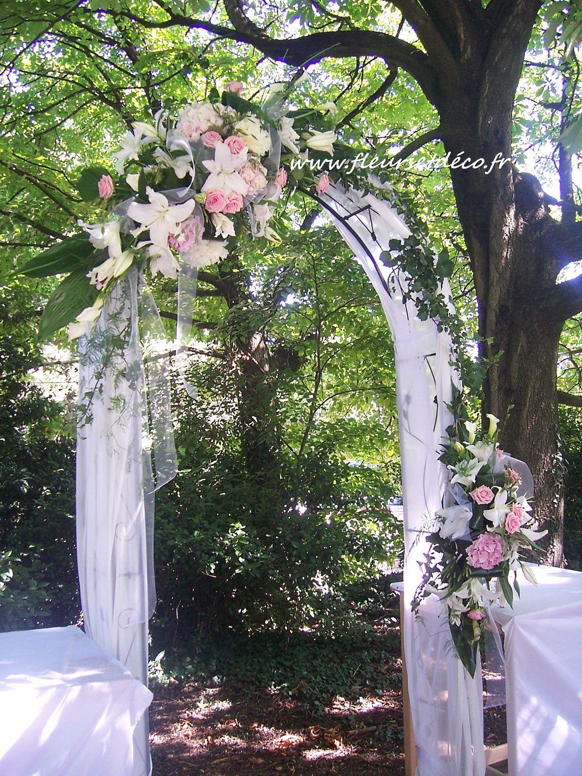 Décoration arche cérémonie laïque by Fleurs et Déco