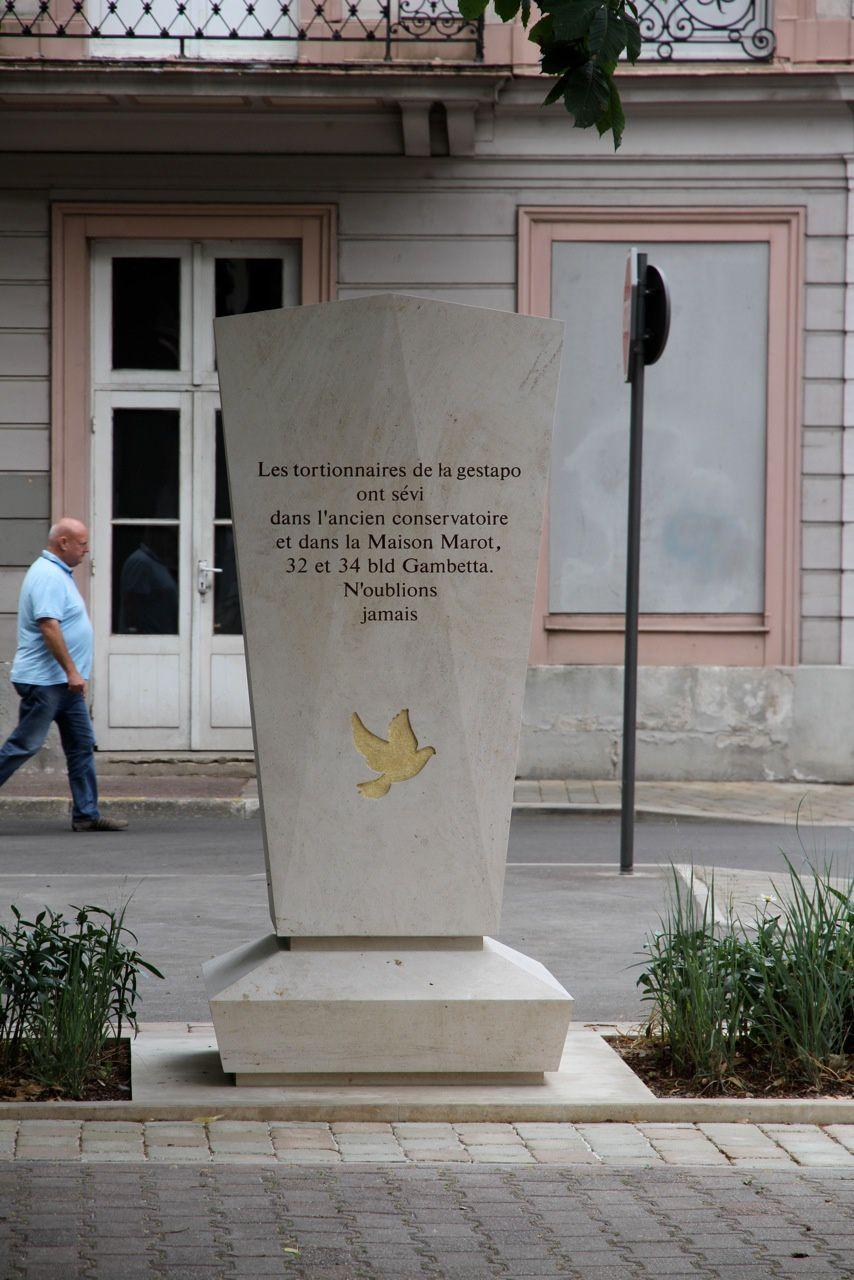 Le Cercle Jean Moulin, l'ADIRP 10 et le collectif on obtenu de la Mairie la reconnaissance officielle de la Maison Fernand Dorée comme ayant été le siège de la Gestapo et du martyr de Résistant sur Troye
