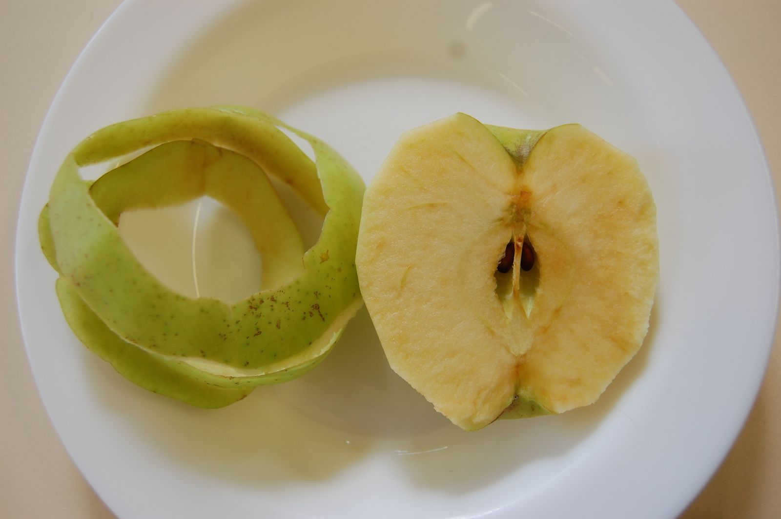 Dégustation des pommes d'Elisa