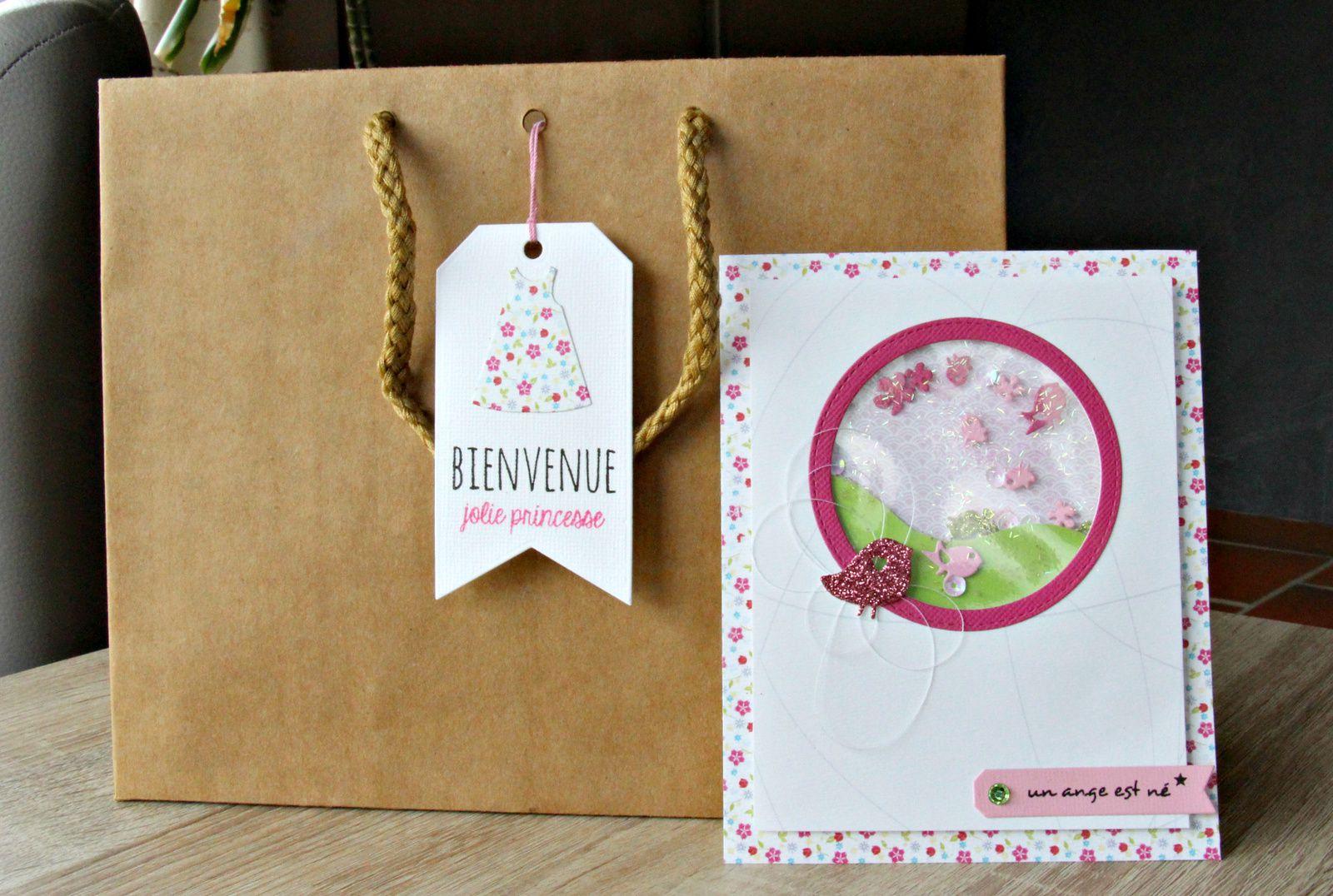 Le paquet avec une belle étiquette et une carte pour accompagner le tout.