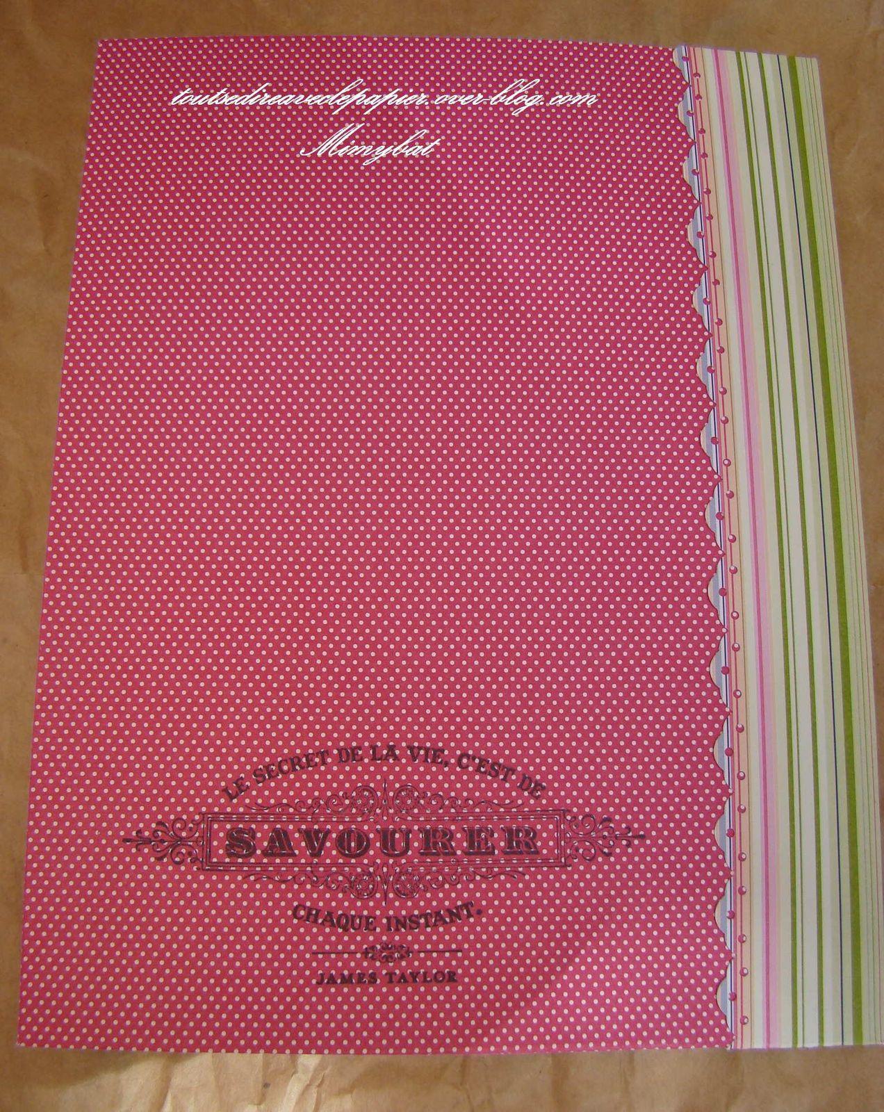 Encore des cahiers recouverts pour offrir...