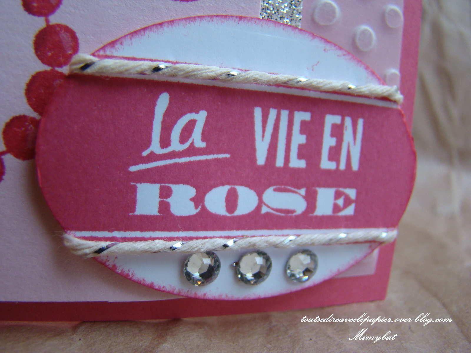 Une carte très girly pour Louise...