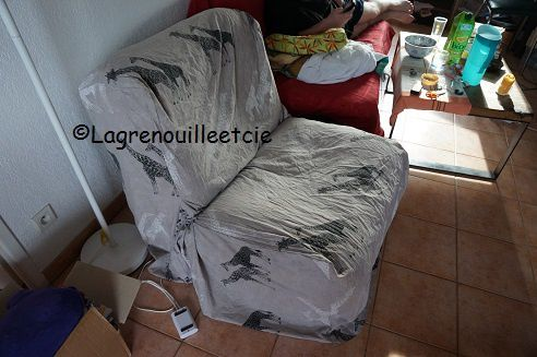 le projet de l 39 t la housse du fauteuil la grenouille. Black Bedroom Furniture Sets. Home Design Ideas