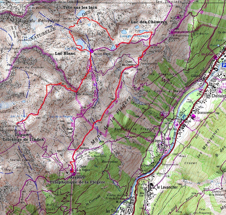 Randonnée : Lac Blanc - lac des Chéserys - Tour des 8 lacs