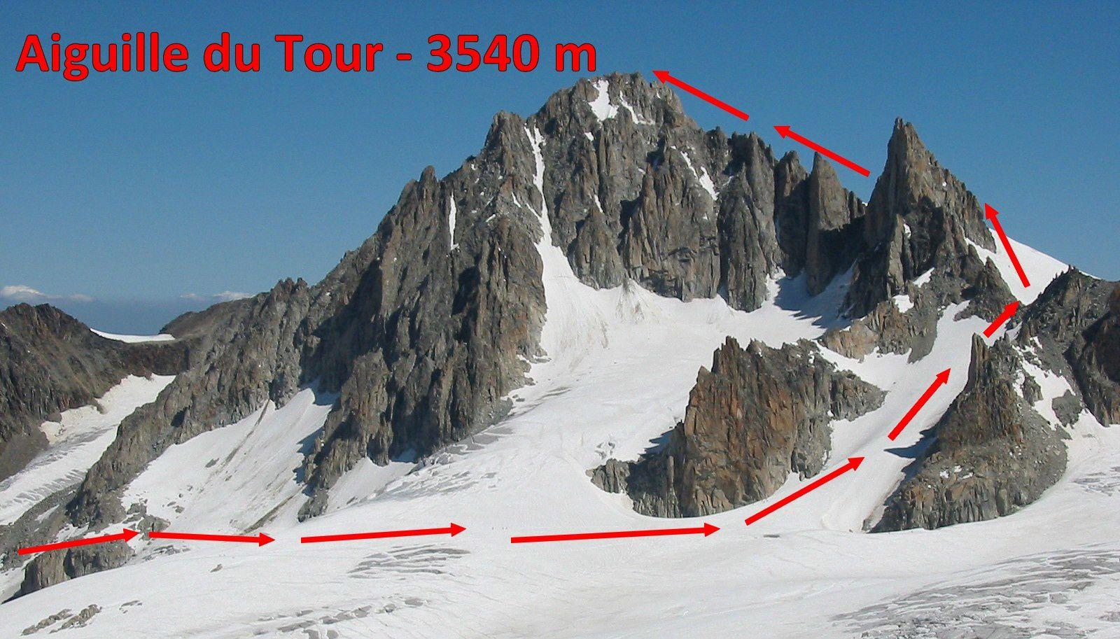Alpinisme : aiguille du Tour - 3542 m