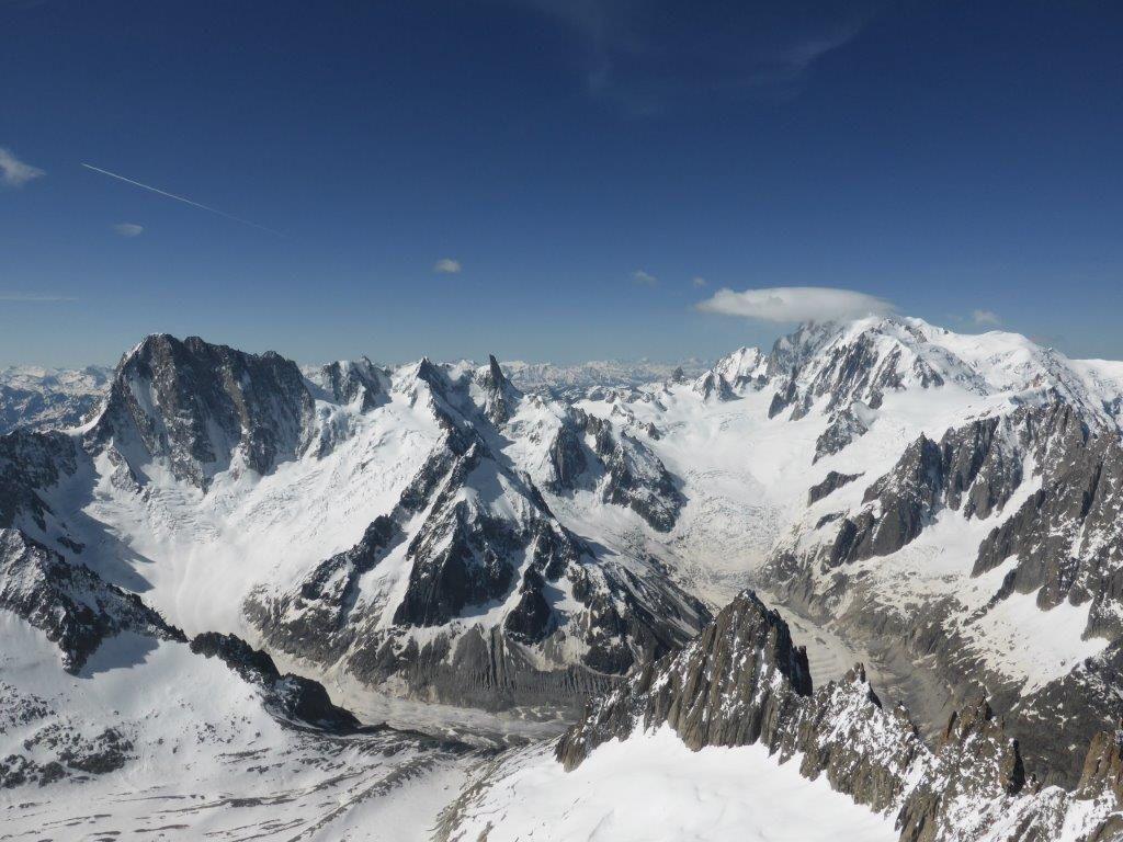Alpinisme : Traversée Aiguille du Jardin - Grande Rocheuse - Aiguille Verte - par le couloir Armand Charlet et le couloir Whymper