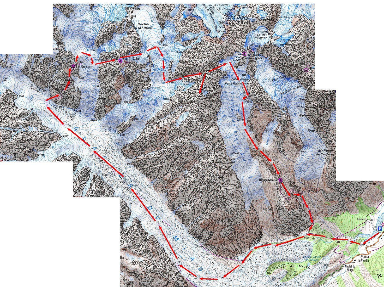 Alpinisme : Mont Brouillard 4069 m - Pointe Baretti 4013 m