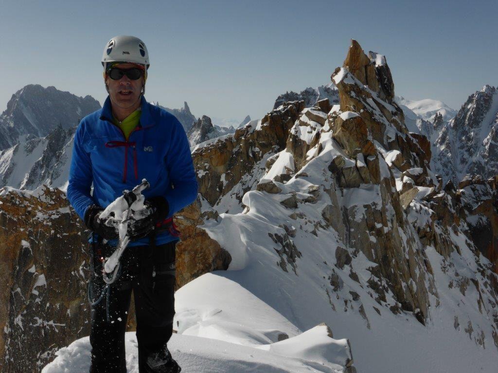 Ski de randonnée : Aiguille d'Argentière couloir en Y - 3901 m