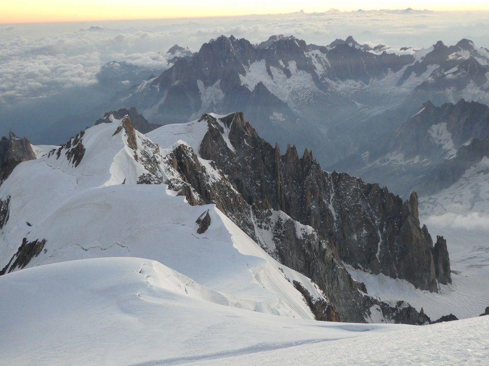Alpinisme : Mont Maudit 4465 m- Mont Blanc 4810 m